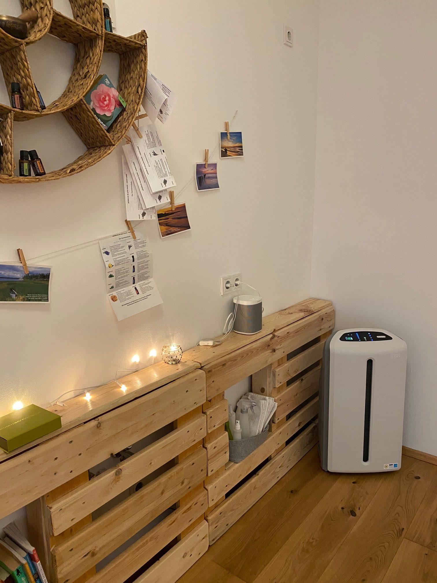 Luftfilter im Yogaraum