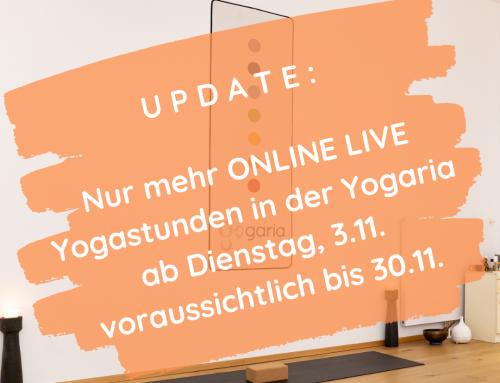 Update: Nur mehr Online Live ab 3.11.