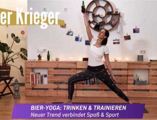 Bier-Yoga auf Puls4