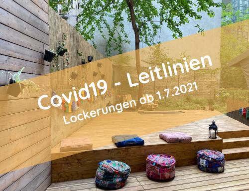 Covid19-Leitlinien aktuell (ab dem 1.7.2021)