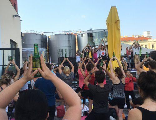 Bier Yoga im Sommer 2021